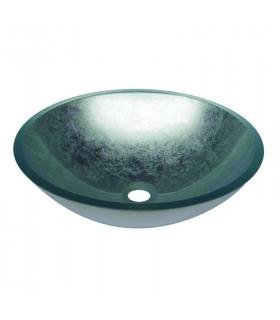 Lavabo a Bacinella Ciotola da Appoggio Vetro 420x420x140 - 1