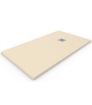 piatto doccia in marmo resina 80X80  H2,5 crema quadrato ap shop online