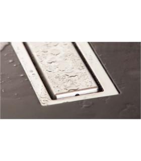 griglia canale di scarico filo pavimento doccia 55 cm  sistema di drenaggio in acciaio inox
