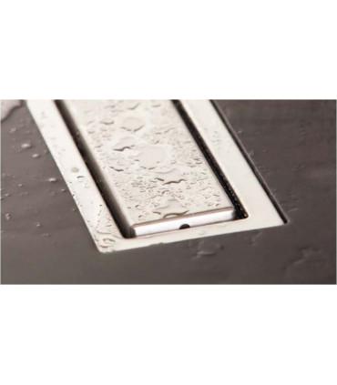 griglia canale di scarico filo pavimento doccia 65 cm  sistema di drenaggio in acciaio inox