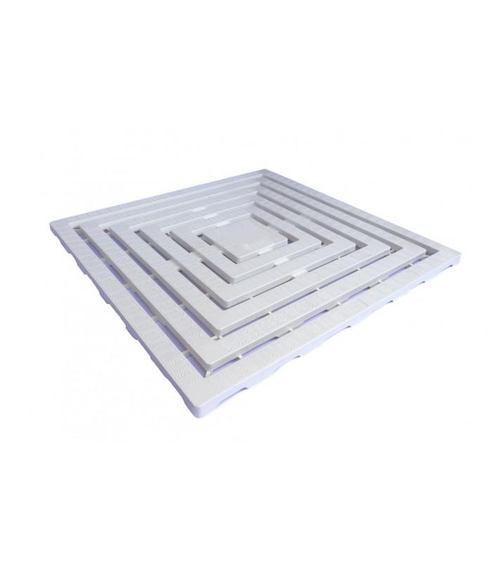 PEDANA DOCCIA IN PVC ANTISCIVOLO 60 X 60 BIANCA
