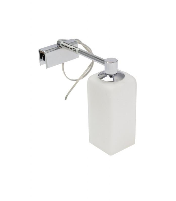 LAMPADA APPLIQUE QUADRO DA BAGNO PER VETRO