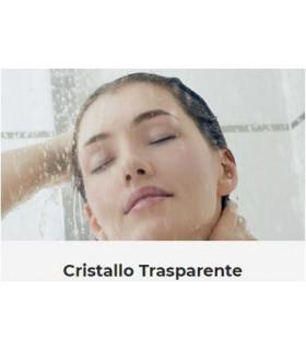 BOX DOCCIA SEMICIRCOLARE TONDO PORTE SCORREVOLI CRISTALLO 6 MM TEMPRATO TAMANACO FS40